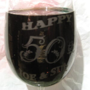 happy 50 wine glass 2